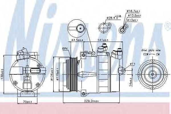 Компрессор кондиционера NISSENS 89022