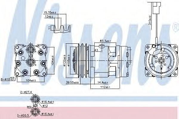 Компрессор кондиционера NISSENS 890222