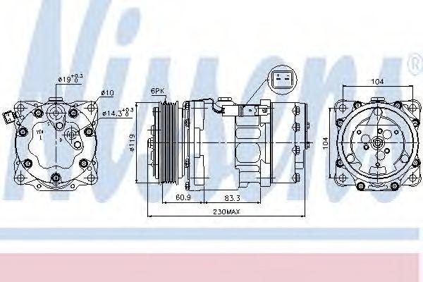 Компрессор кондиционера NISSENS 89032