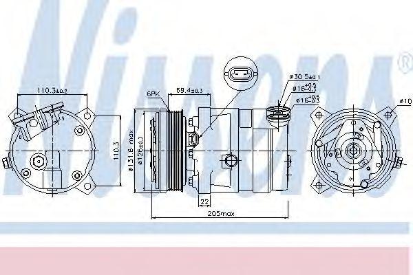 Компрессор кондиционера NISSENS 89058