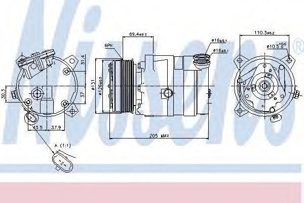 Компрессор кондиционера NISSENS 89062