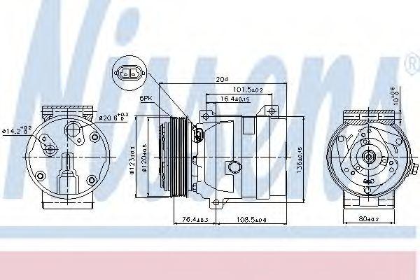 Компрессор кондиционера NISSENS 89063