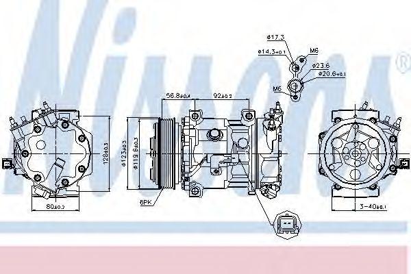 Компрессор кондиционера NISSENS 89067