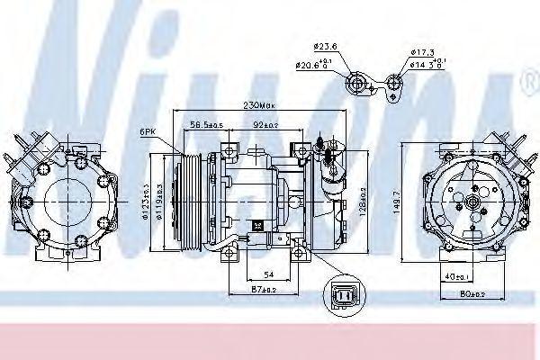 Компрессор кондиционера NISSENS 89076