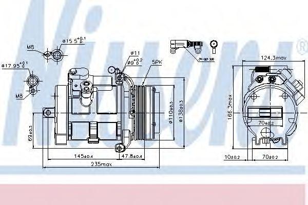 Компрессор кондиционера NISSENS 89077