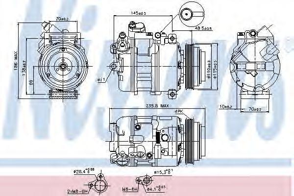 Компрессор кондиционера NISSENS 89080