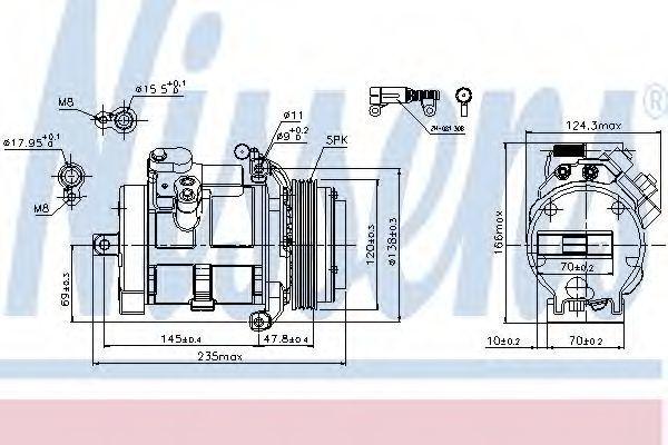 Компрессор кондиционера NISSENS 89081
