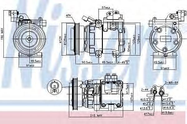 Компрессор кондиционера NISSENS 89085