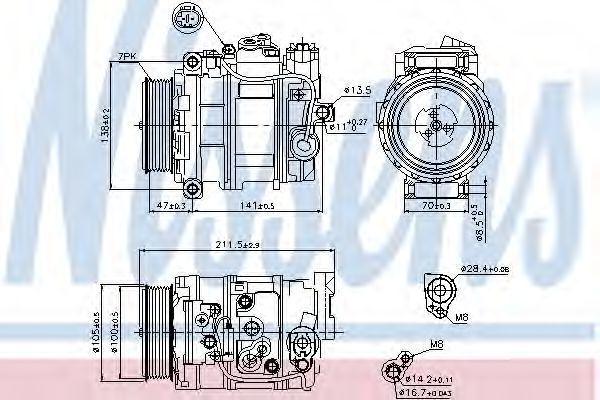 Компрессор кондиционера NISSENS 89090