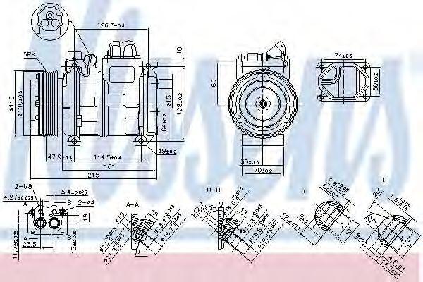 Компрессор кондиционера NISSENS 890093