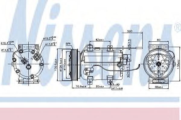 Компрессор кондиционера NISSENS 89101