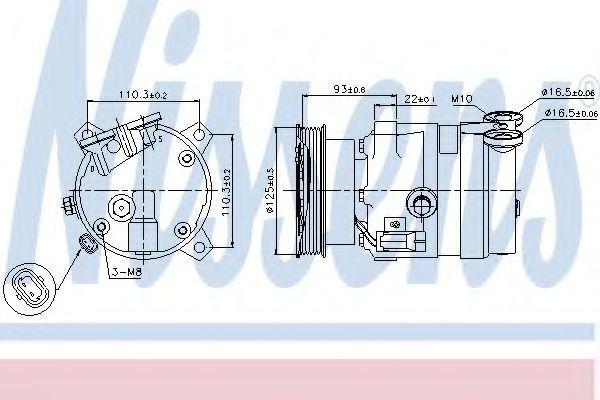 Компрессор кондиционера NISSENS 89106