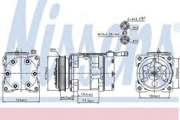 Компрессор кондиционера NISSENS 89110