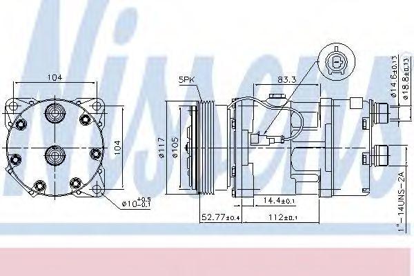 Компрессор кондиционера NISSENS 89123