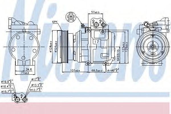 Компрессор кондиционера NISSENS 89153