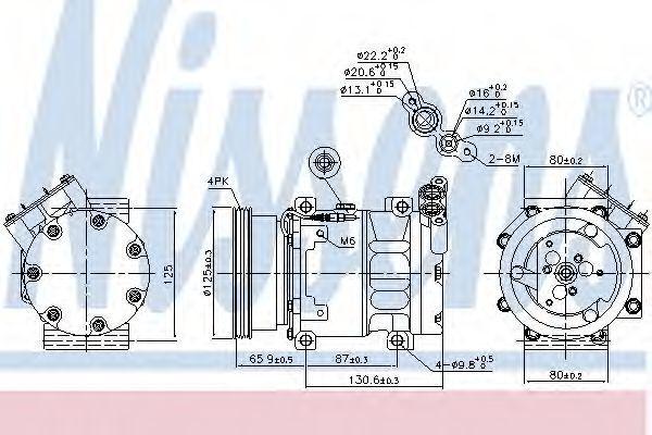 Компрессор кондиционера NISSENS 89164