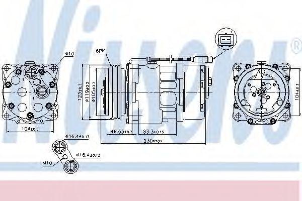 Компрессор кондиционера NISSENS 89192
