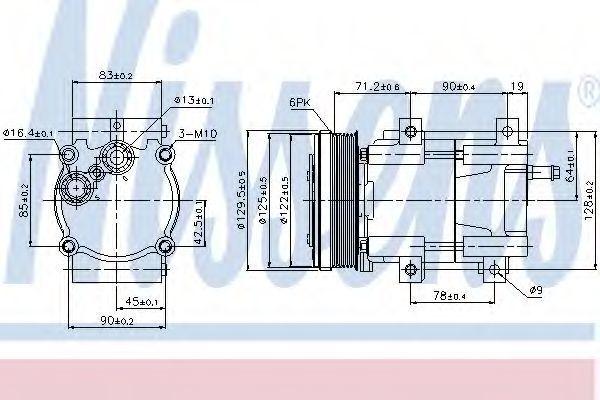 Компрессор кондиционера NISSENS 89205