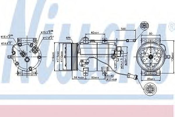 Компрессор кондиционера NISSENS 89452