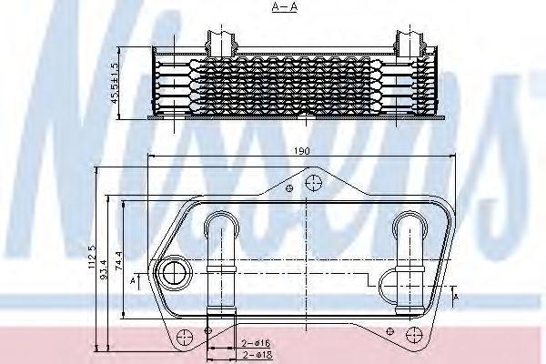 Радиатор масляный NISSENS 90653