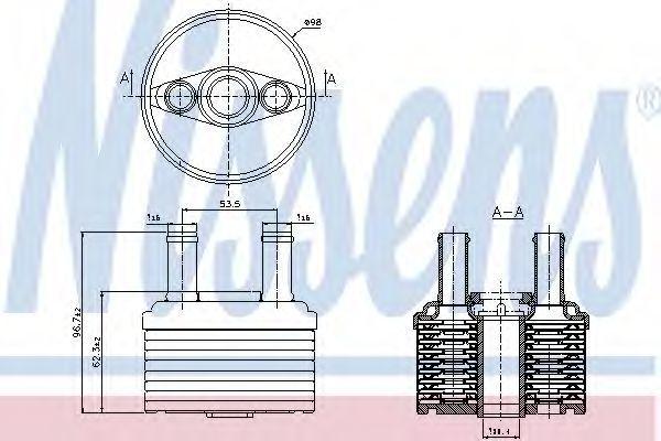 Радиатор масляный NISSENS 90664