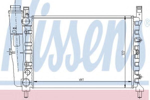 Радиатор охлаждения NISSENS 61950