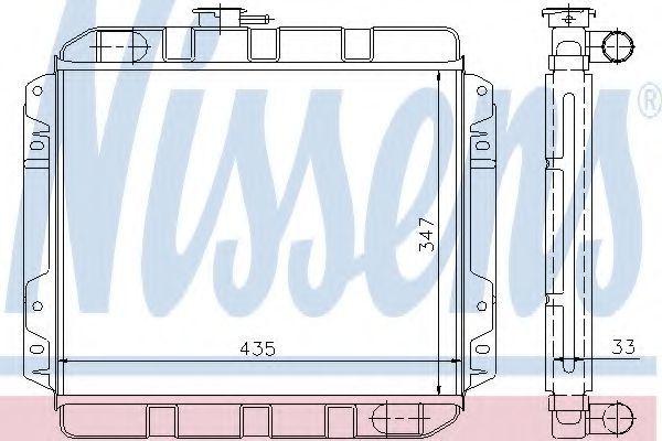 Радиатор, охлаждение двигателя NISSENS 62230
