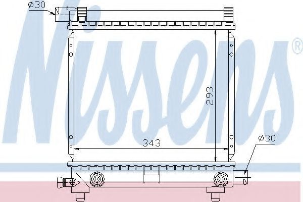 Радиатор охлаждения двигателя NISSENS 62550