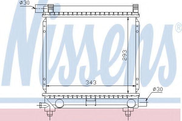 Радиатор охлаждения NISSENS 62551