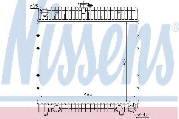 Радиатор охлаждения двигателя NISSENS 62710