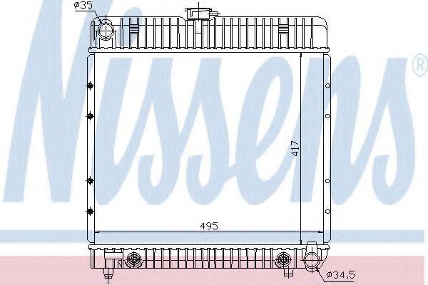 Радиатор охлаждения NISSENS 62740