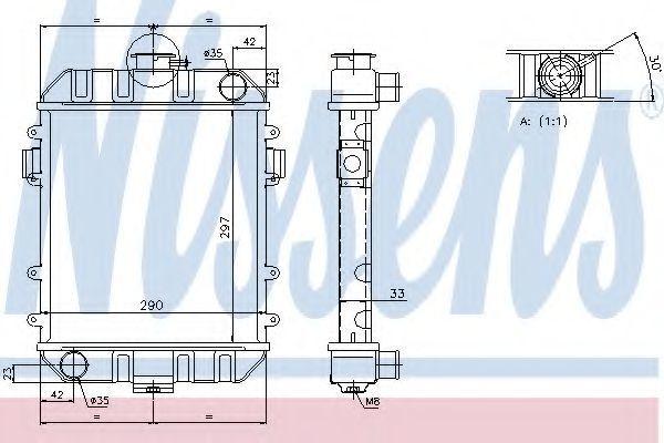 Радиатор охлаждения NISSENS 63070