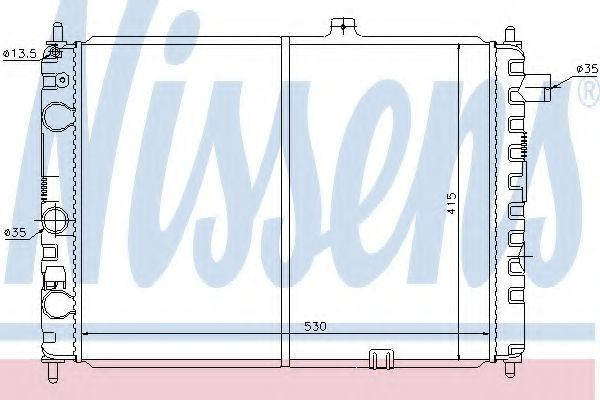 Радиатор охлаждения двигателя NISSENS 63170