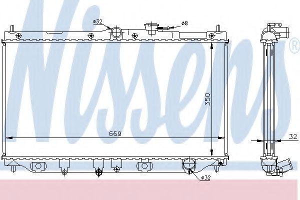 Радиатор охлаждения NISSENS 62282A