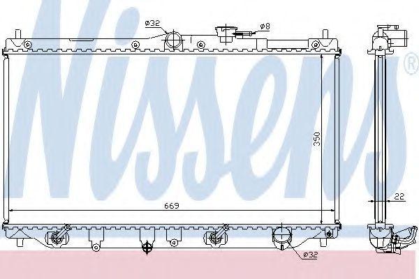 Радиатор охлаждения двигателя NISSENS 622831
