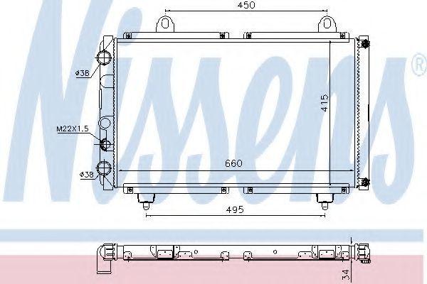 Радиатор охлаждения NISSENS 63558