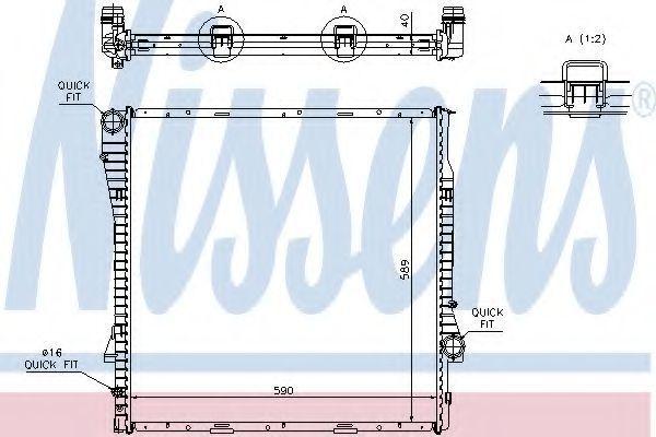 Радиатор охлаждения NISSENS 60787A