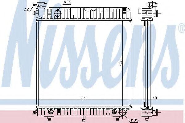 Радиатор охлаждения NISSENS 62632