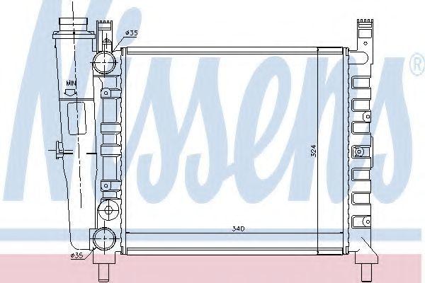 Радиатор охлаждения NISSENS 61929