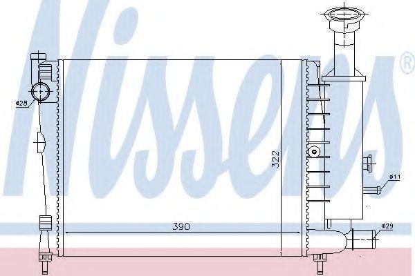 Радиатор охлаждения NISSENS 61354