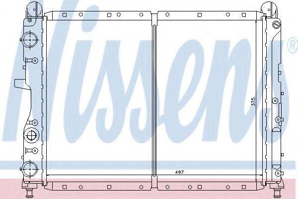 Радиатор охлаждения двигателя NISSENS 61842
