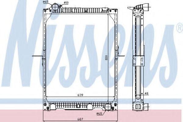 Радиатор охлаждения двигателя NISSENS 62524A
