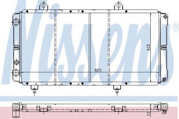 Радиатор охлаждения двигателя NISSENS 635721