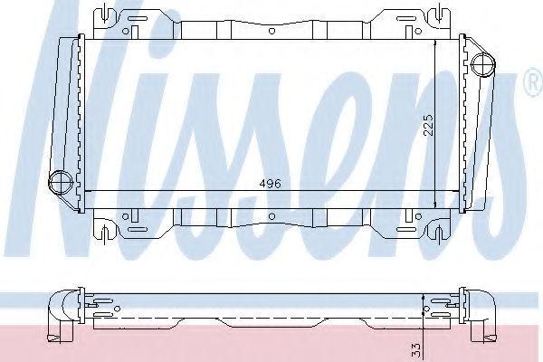 Радиатор охлаждения NISSENS 62093