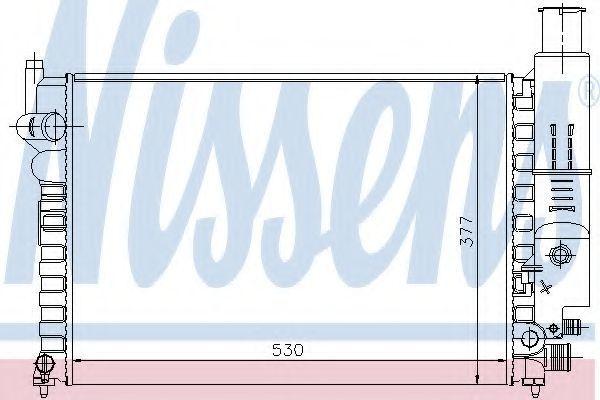 Радиатор охлаждения двигателя NISSENS 61230