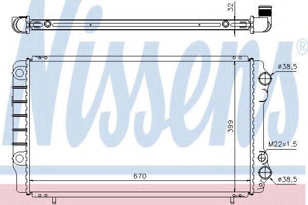 Радиатор охлаждения двигателя NISSENS 63912A