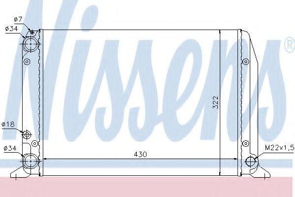 Радиатор охлаждения NISSENS 604611