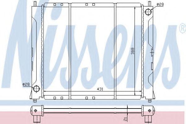 Радиатор охлаждения NISSENS 64019