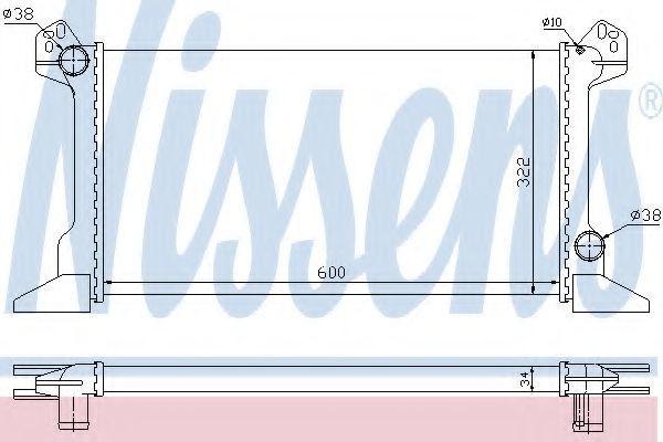 Радиатор охлаждения NISSENS 62177