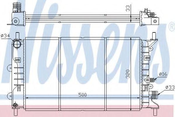 Радиатор охлаждения NISSENS 621621